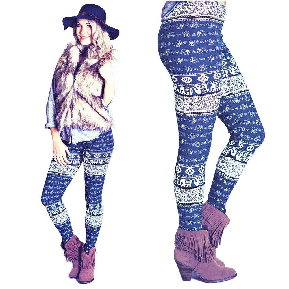 2017 Gloednieuwe Vrouwen Herfst Winter Warm Leggings Mode Geometrische Gedrukt Hoge Elastische Skinny Leggings Broek Broek Plus Size