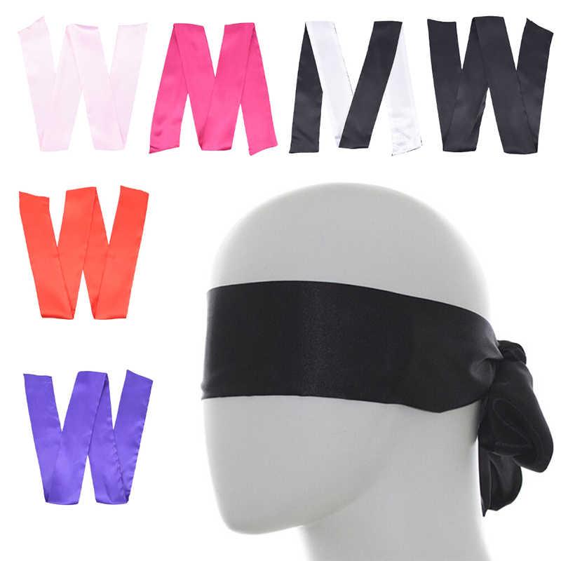6 色二重層緊縛セックス製品睡眠休息結婚式ブラインドマスクソフトシルクサテンアイパッチマスクリボン