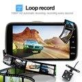 """Traço Cam, 4 """"ips fhd 1080 p lente dupla do carro dvr câmera com motion detection gravação em loop g-sensor de estacionamento visão wdr noite"""