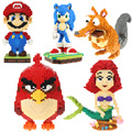 Balody Blocks Big Size Mario Ice Age Sonic Bird DIY Building Toys High Quality Large Piece Bricks Cute Auction Juguetes for Kids