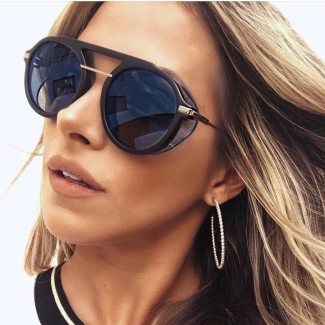 b3bb7841fd mimiyou Punk Round Sunglasses Women Metal Goggle Transparent Sun Glasses  Men Vintage Fashion Glasses Shades Brand Oculos