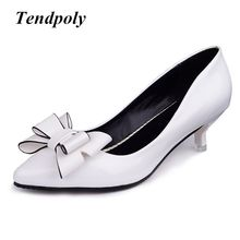 New retro fashion Women's high heels summer fine with bow versatile shallow mouth casual sexy prom wedding Women shoes(China)