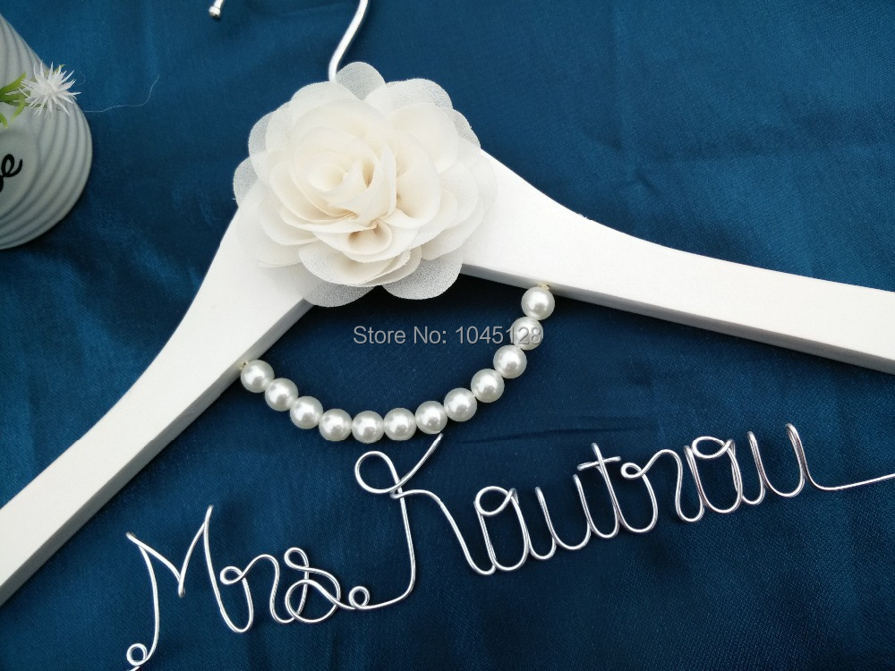Personalized Wedding Hanger Wire Name Bride Hanger