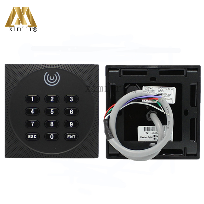 4pcs a lot IP64 Waterproof Smart Card 13.56MHZ MF Card IC Card Access Control System Reader Proximity Card Reader With Keypad waterproof touch keypad card reader for rfid access control system card reader with wg26 for home security f1688a