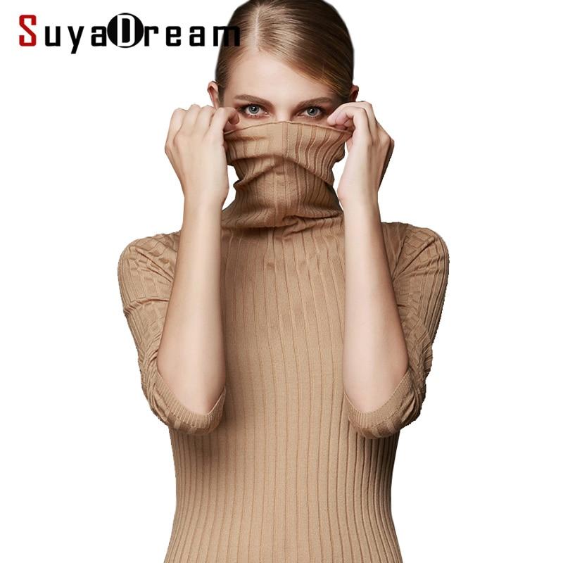 Женский шерстяной пуловер 100% шерстяной свитер для женщин водолазка ребра вязаные зимние свитера белый черный хаки джемпер pull femme