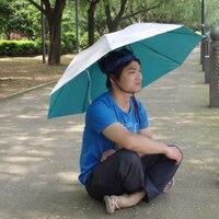 NEW STYLE Men Foldable Umbrella Hat Hiking Beach Fishing Umbrella Hat Cap Portable Head Hats Umbrella