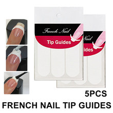 5pcs/set DIY French Nail Art Smile Striping Line Tape Sticker Tips Guide Stencil Manicure Accessories Tools Decoration(China)