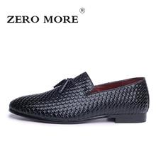 Zero более моды Высококачественные мужские туфли из мягкой искусственной кожи Удобные повседневные мужские лоферы мужские слипоны обувь 3 цвета Размеры 37-48