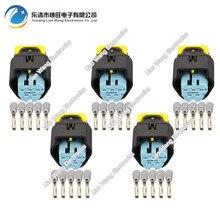все цены на 5 Sets J7051F-1.5-21Waterproof Female 5 Pin Automotive Electrical Wire Connector For VW Audi  Inject Sensor Fits Ford 1928405138 онлайн