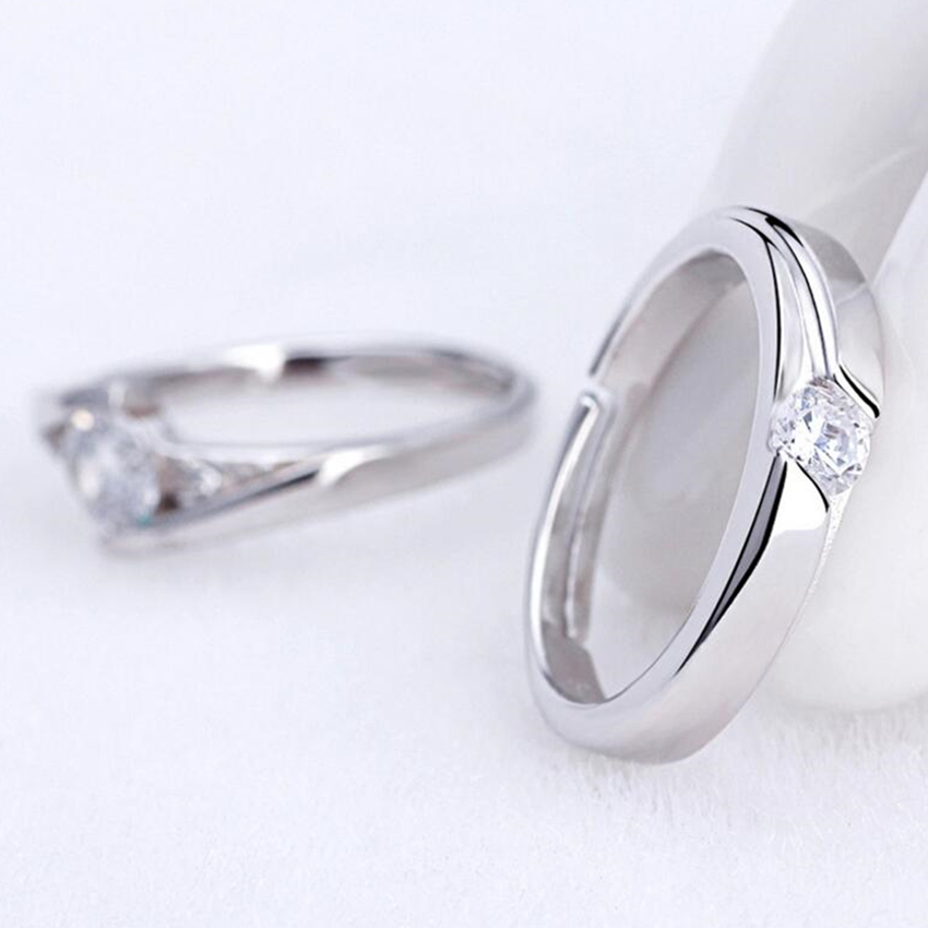 Romantic Love Couple Rings High Grade Boutique Fashion Open Crystal Ring  Male And Female Models Popular Jewelry (a Pair Of Sell) In Engagement Rings  From ...