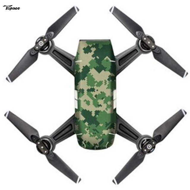 New Hot Camouflage Colorful DIY Waterproof Body Shell Stickers Decals For DJI SPARK RC Quadcopter Drone Accessories