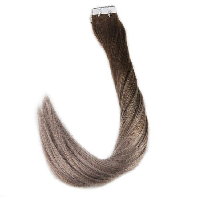 Full Shine 20pcs 50 Gram Human Hair Color 4 Dark Brown Fading To