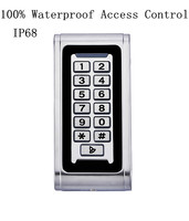 Metal Material Vandal Proof IP68 100 Waterproof Rfid Standalone Door Access Control Keypad Proximity Card Reader