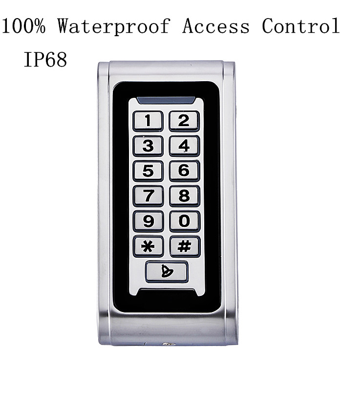 Metal Case 100% Waterproof IP68 RFID Standalone Door Access Control Keypad Proximity Card Reader Can Put Inside Water good quality metal case face waterproof rfid card access controller with keypad 2000 users door access control reader