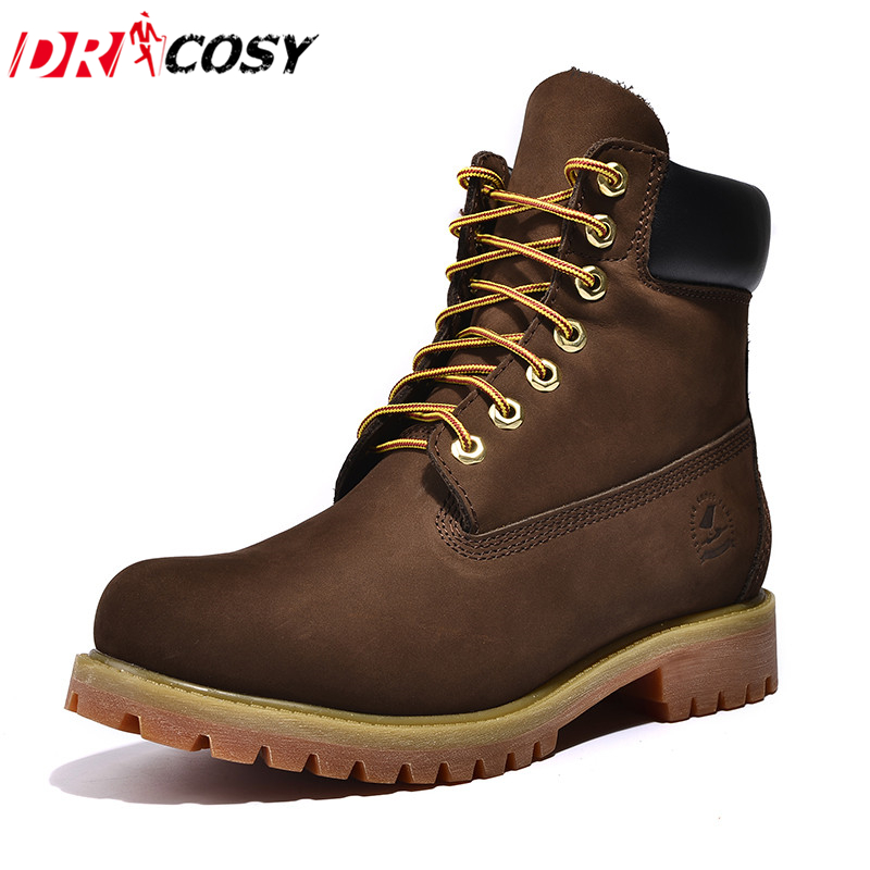 ФОТО Brand High Quality Genuine Leather Martin Boots Fashion Men Boots High Top Tooling Boots Ankle Botas Men Casual Motorcycle Boots