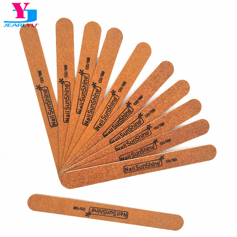 High Quality 20pcs Nail File <font><b>Strong</b></font> Thick Wood Professional Art Tips <font><b>120</b></font>/180 Grit Sanding Nagelvijl Nail Sunshine Limas Manicura image