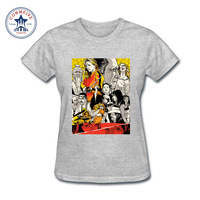 2017 New Arrive Funny Kill Bill Quentin Tarantino ART Cotton T Shirt For Women