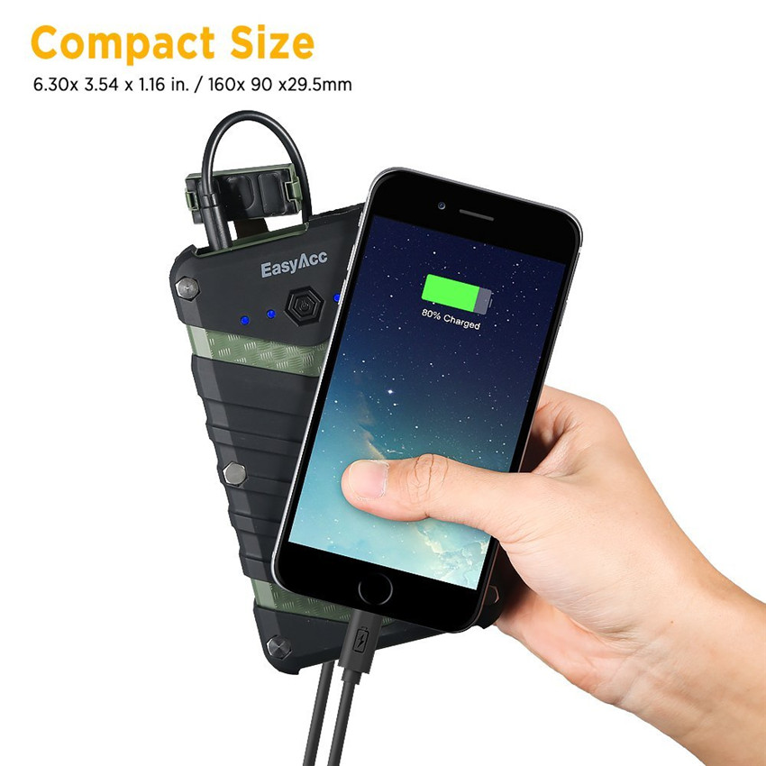 EasyAcc 20000mAh Power Bank bärbar laddare 2USB 18650 Externt - Reservdelar och tillbehör för mobiltelefoner - Foto 2