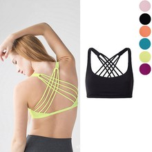 European and American popular sexy candy color coat back cross sports underwear bra bandage Yoga vest