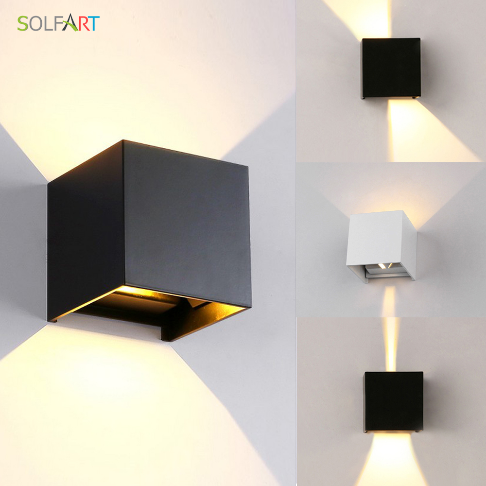 Solfart Modern Led Sconce Wall Lights Black Shade Wall