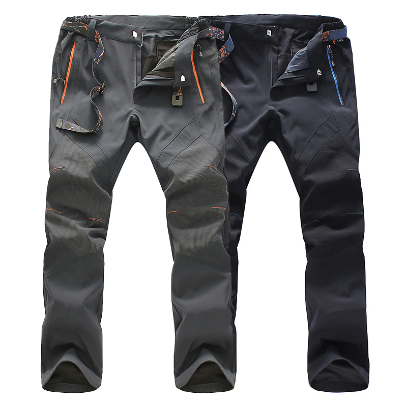 LoClimb Stretch Mens Hiking Pants Men Spring Summer Outdoor Sport Black Waterproof Trousers For Trekking Climbing Cycling,AM219