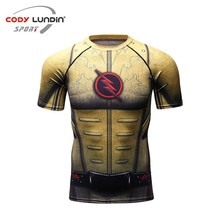 Super hero 3D  T-shirts Men Compression Shirt Raglan Short Sleeve Flash Cosplay Costume Quick Dry Crossfit Clothing Tops Male