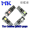 HK Post free 100pcs/Lot Canbus T10 5 SMD 5050 Car LED White NO Error W5W 194 168 2825 2821 Bulb