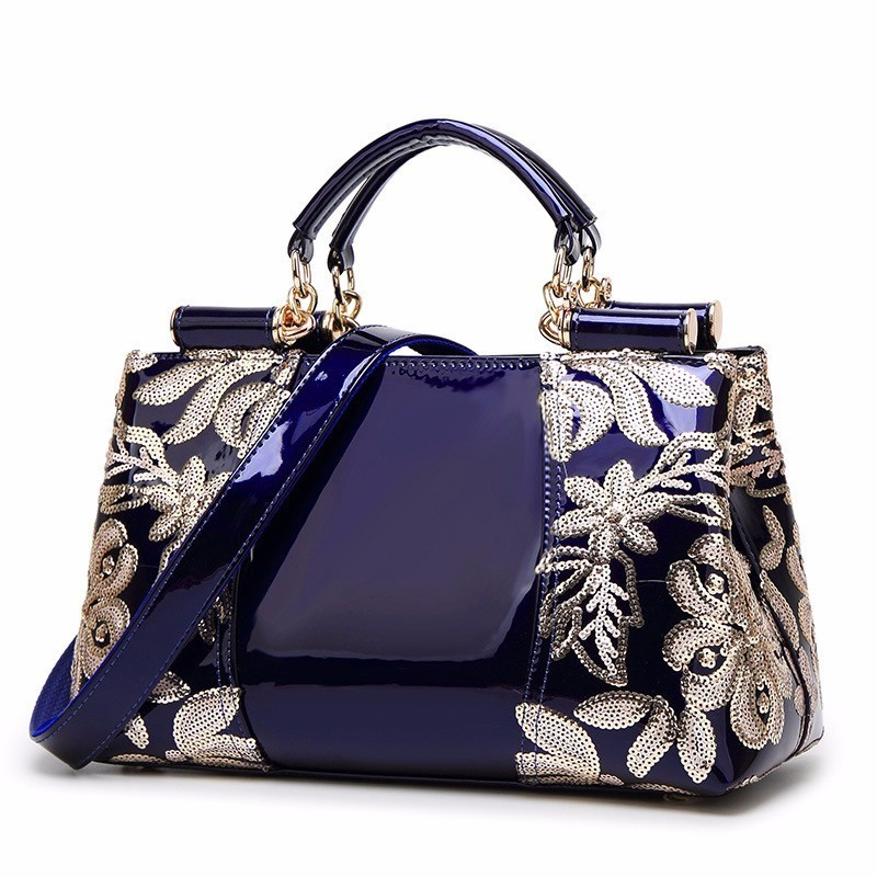 Luxury Design Brand Patent Leather Shoulder Bag Ladies Bags Designer Handbags Women Frame Handbag Large Capacity Tote 2017 luxury brand women handbag oil wax leather vintage casual tote large capacity shoulder bag big ladies messenger bag bolsa