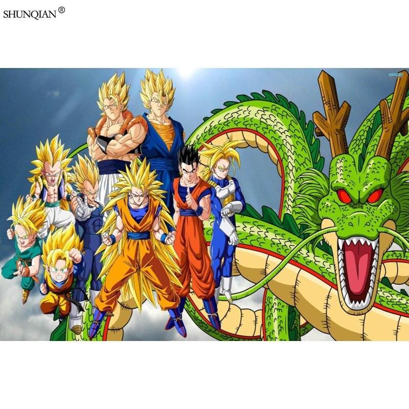 Dragon Ball Z Poster Print Silk Fabric Cloth Wall Custom Satin 40x60cm50x75cm60x90cm With Free Shipping Worldwide Weposters Com