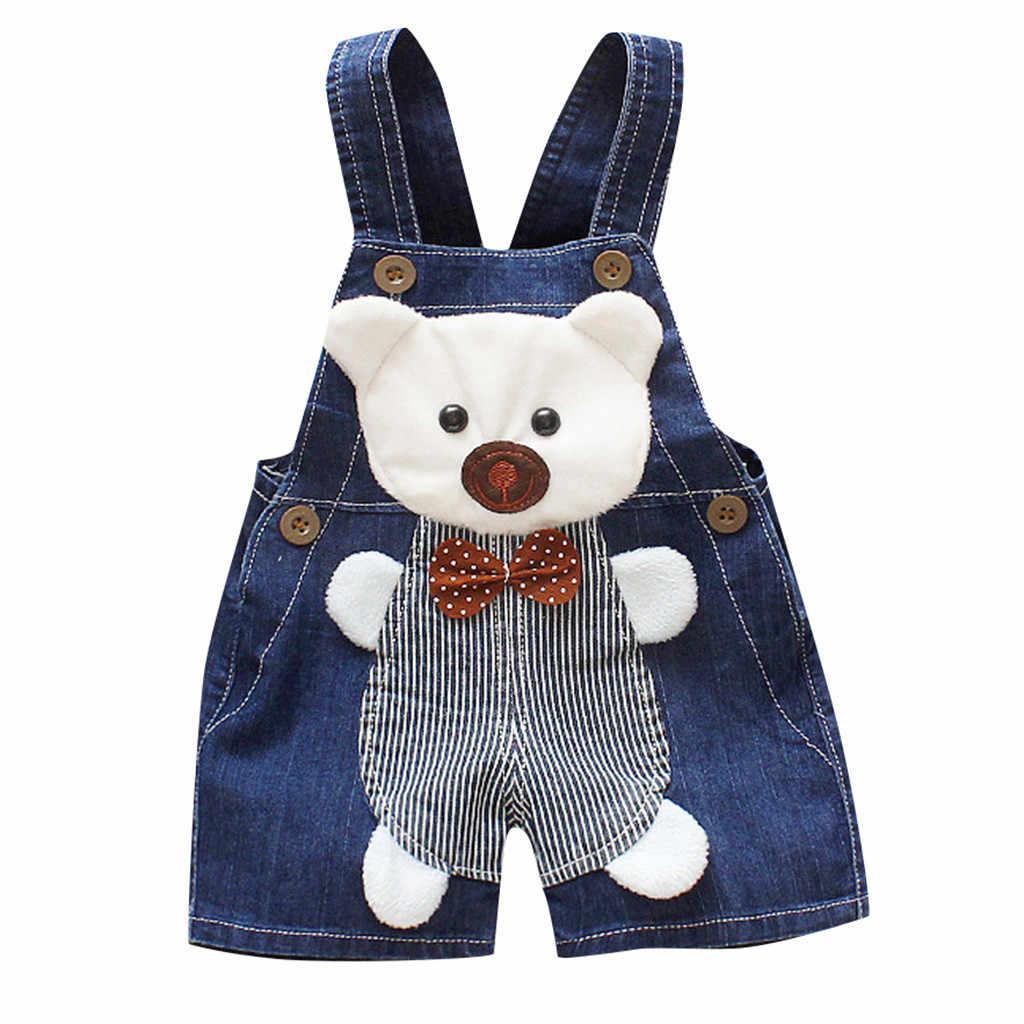 Toddler Kids Clothes Baby Boy Clothes Girls 3D Cartoon Bear Dog Overall Denim Pants Clothes  Roupa Infantil Erkek Bebek Giyim