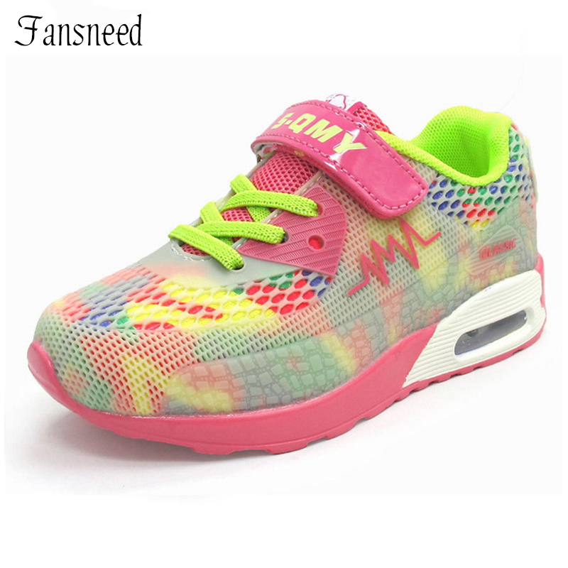 2016 New Children s Sports Shoes Height Increase Air Crushion Breathable Shoes Boys And Girls Mesh