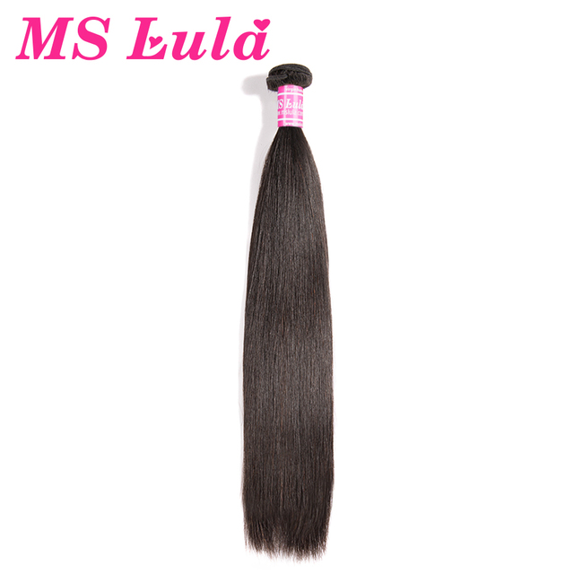 MS Lula Hair Brazilian Straight Hair 100% Human Hair Weave 1 Bundle 6-30 inch 1Piece Natural Color Remy Hair Free Shipping