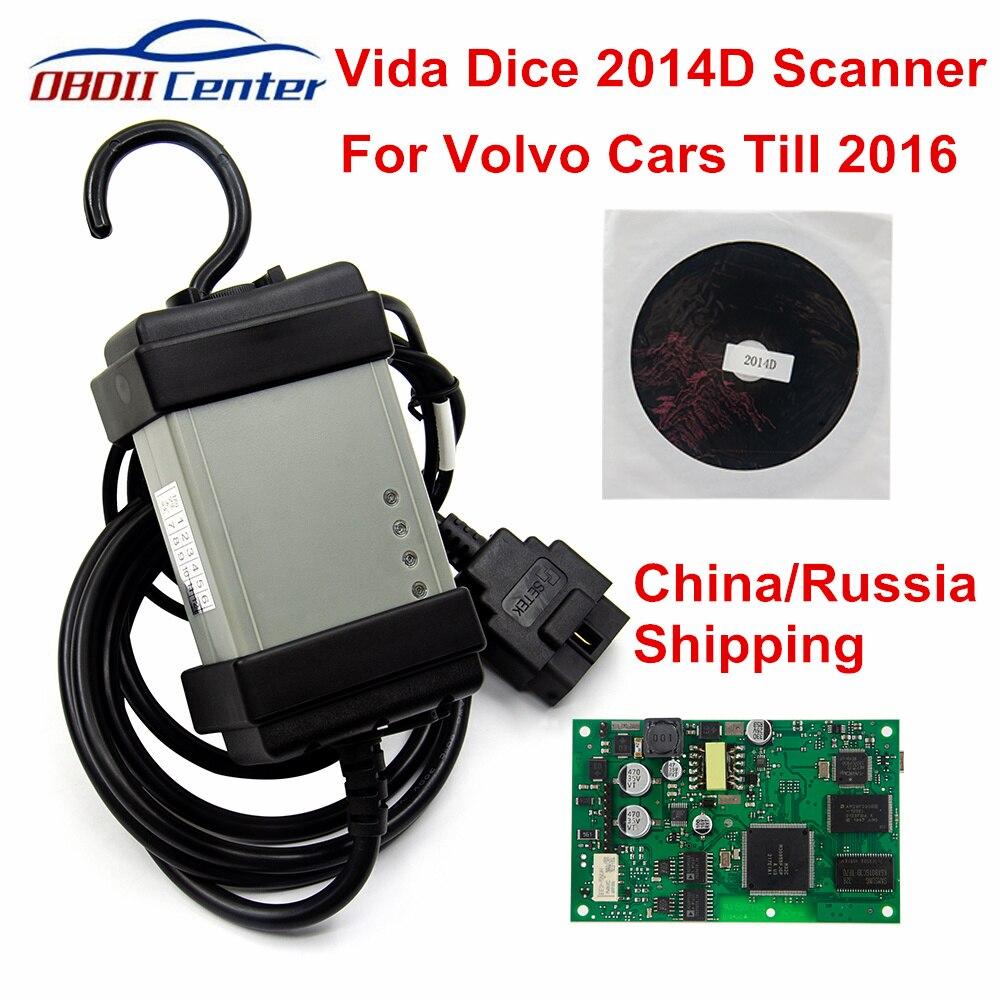 2019 Para Volvo Vida Dice 2014D Ferramenta de Scanner de Diagnóstico Para A Volvo Dice Pro Interface de Diagnóstico Do Carro para a Atualização de Firmware Auto- teste