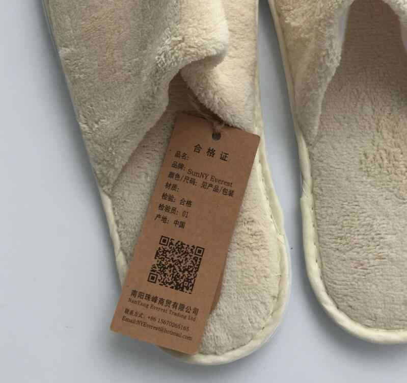 b9234c4cb116cc ... Nature cotton room slippers shoes Hotel Non-slip One-time flip flop  Home guest