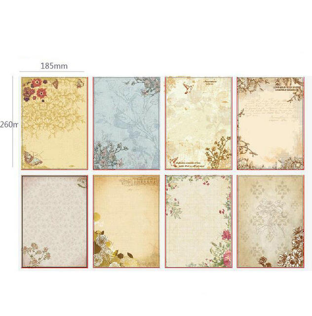 online shop pcs european style writing paper stationery pattern  80pcs european style writing paper stationery pattern vintage letterhead letter paper paper for love letter
