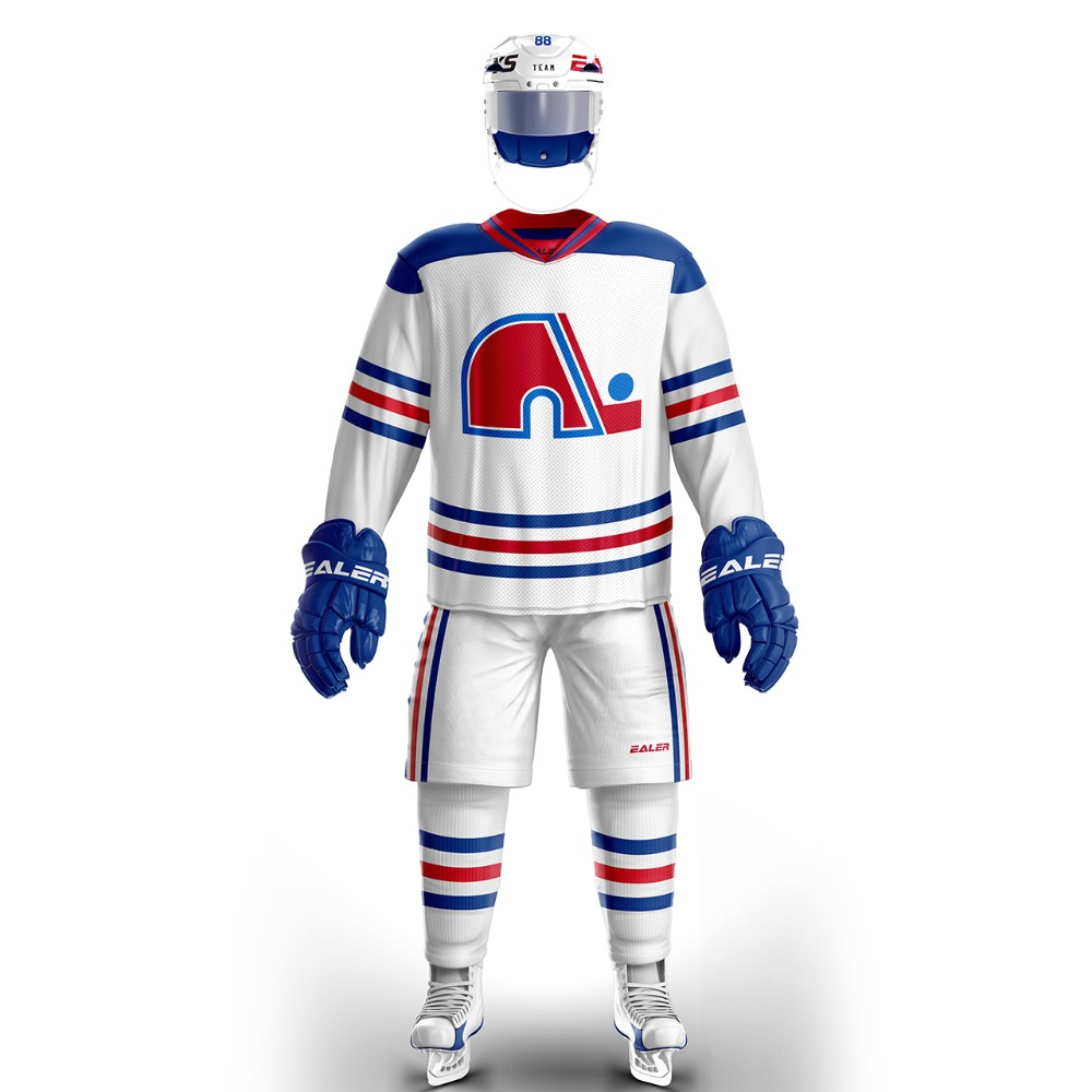 Han Duck Quebec Training wear With fans Logo ice hockey jersey s in stock customized cheap high quality