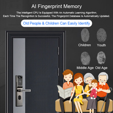 Biometric Electronic Door Lock Home Keyless Door Locks Wireless App Phone Bluetooth Password Card Unlock Fingerprint Lock