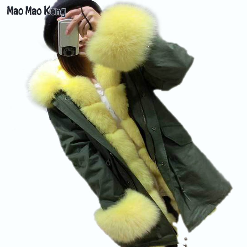 plus size 2017 new long Khaki winter jacket women outwear thick parkas natural real raccoon fur collar coat hooded pelliccia plus size 2017 women outwear long camouflage winter jacket thick parkas raccoon natural real fur collar coat hooded pelliccia