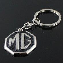"100X מתכת לוגו מכונית מ""ג מחזיק טבעת מחזיק מפתחות Keychain Keyring אוטומטי מפתח mg סקאניה סטיילינג Accessorie"