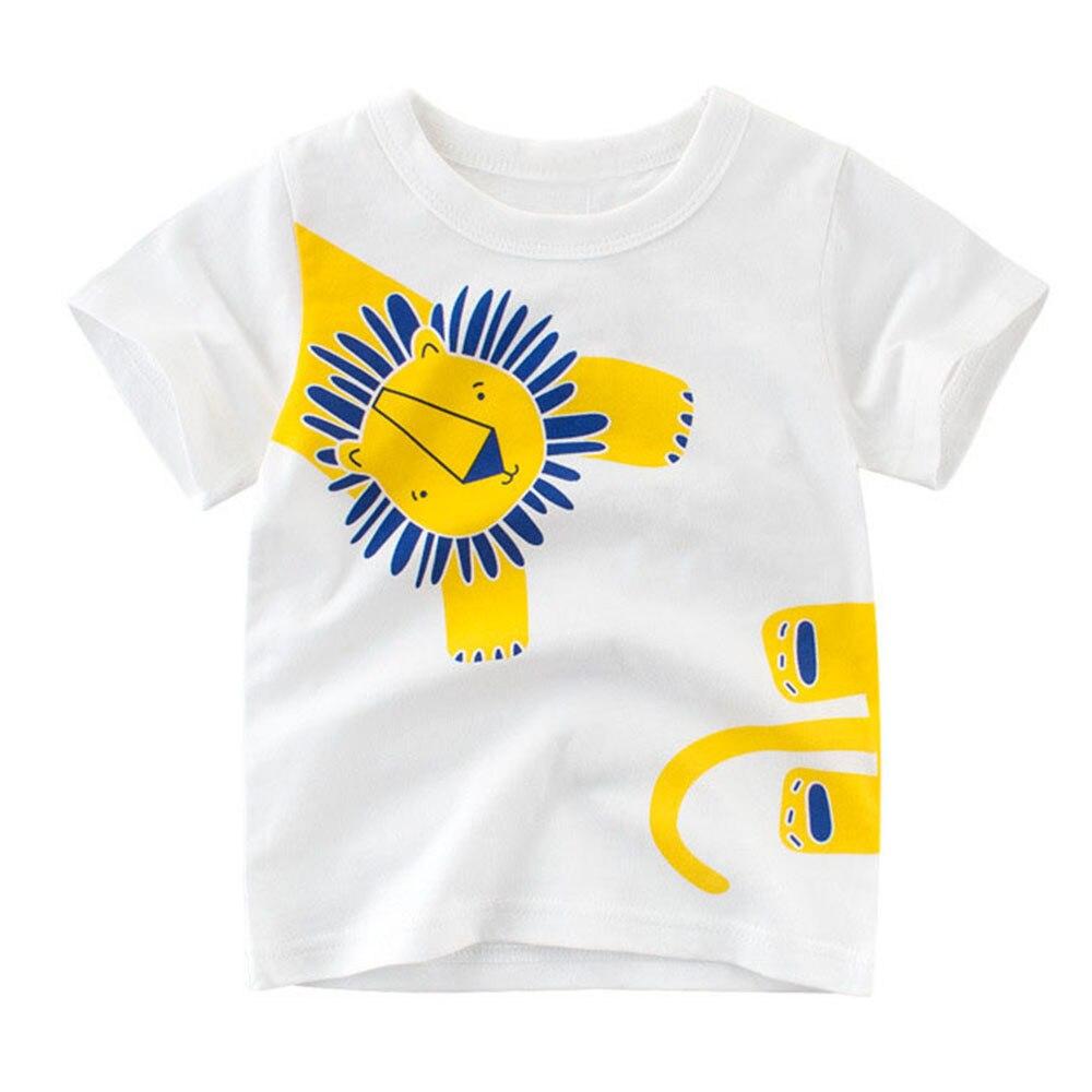 weLaken Kids T-shirt For Girls Boys 2018 New Summer Style Short Sleeve Toddler Children Clothing Kids Cartoon Pattern Top Tshirt