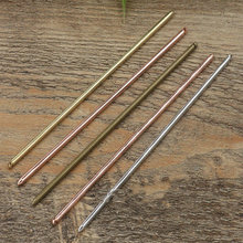 3*130mm Copper/Brass HairPin clip,Hair Sticks,Antique Bronze/Gold/Silver/Black Hair Bobby pin DIY Vintage Jewelry