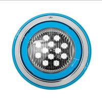 12VAC IP68 Swimming Pool SPA Par56 Wall Mounted Stainless Steel 230mm 6W 9W 12W Pool Light