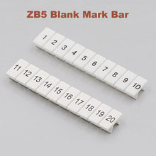 10/20/50 piezas ZB5 Digital marcador de bloque de terminales para carril Din UK-3N MBKKB2.5 Bordier Mark bar morsettiera terminales de etiqueta(China)