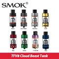 Original Smok Atomizador Nuvem TFV8 Besta Tanque 5.5 ml/6 ml de Fluxo de Ar Ajustável w/TFV8-T8 v8-Q4 Bobina Turbo RBA Cabeça