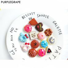 Diy Earrings Jewelry Accessories Hair Refrigerator Stickers Color Cute Girl Cake Donut 8pcs PURPLEGRAPE