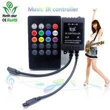 Yeni 20 anahtar müzik IR denetleyici siyah ses sensörü uzaktan RGB LED şerit yüksek kalite