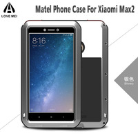 CellPhone Case For Max 2 Shockproof LifeWaterproof Powerful Aluminum Gorilla Glass Metal Cover For Xiaomi Mi