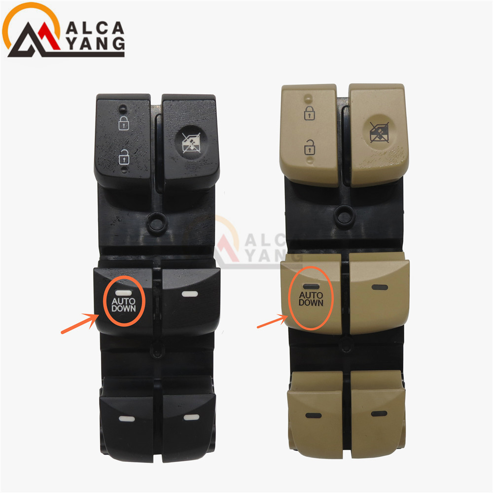 Malcayang Driver Side Front Window Control Switch 93570-4V000 For Hyundai 12-16 Elantra Lang Move 2 colors 2 kinds of functions for hyundai elantra front left driver side master power window switch 2001 02 03 04 05 2006 93570 2d000