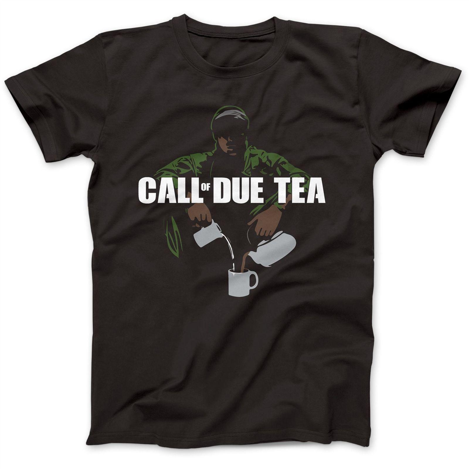 Call Of Due Tea Parody T-Shirt 100% Premium Cotton Advanced Warfare Duty