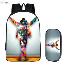 Men's Bacpack Bag Student Backpacks Michael Jackson Nylon Printing Cool School Bags Bolsos Mujer DIY Travel Backpack Book Bag(China)